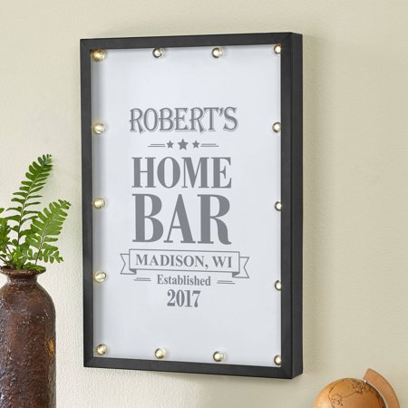 Personalized Home Bar Light Sign