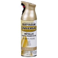 Rust-Oleum Universal Metallic Gilded Brass Spray Paint and Primer in 1, 11 oz