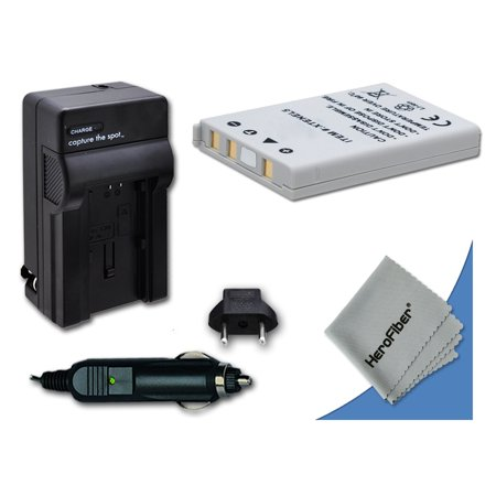High Capacity Replacement Nikon EN-EL5 Battery with AC/DC Quick Charger Kit Made for Nikon Coolpix P80 Digital Camera