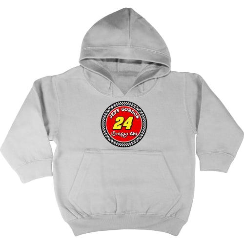 Checkered Flag Jeff Gordon Toddler Littlest Fan Pullover Hoodie - Gray