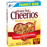 General Mills, Honey Nut Cheerios Medley Crunch, Breakfast Cereal, Family Size 20.9 oz