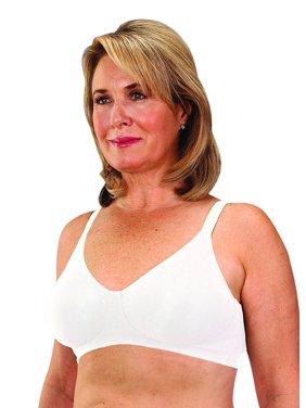 Classique Mastectomy Seamless Sleek Comfort Cotton Bra 38D White