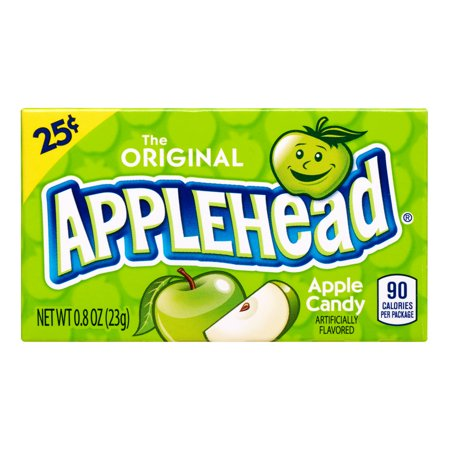 Lemonhead, Applehead Apple Chewy Candy, 0.8oz (Box of 24) - Chewy Candy