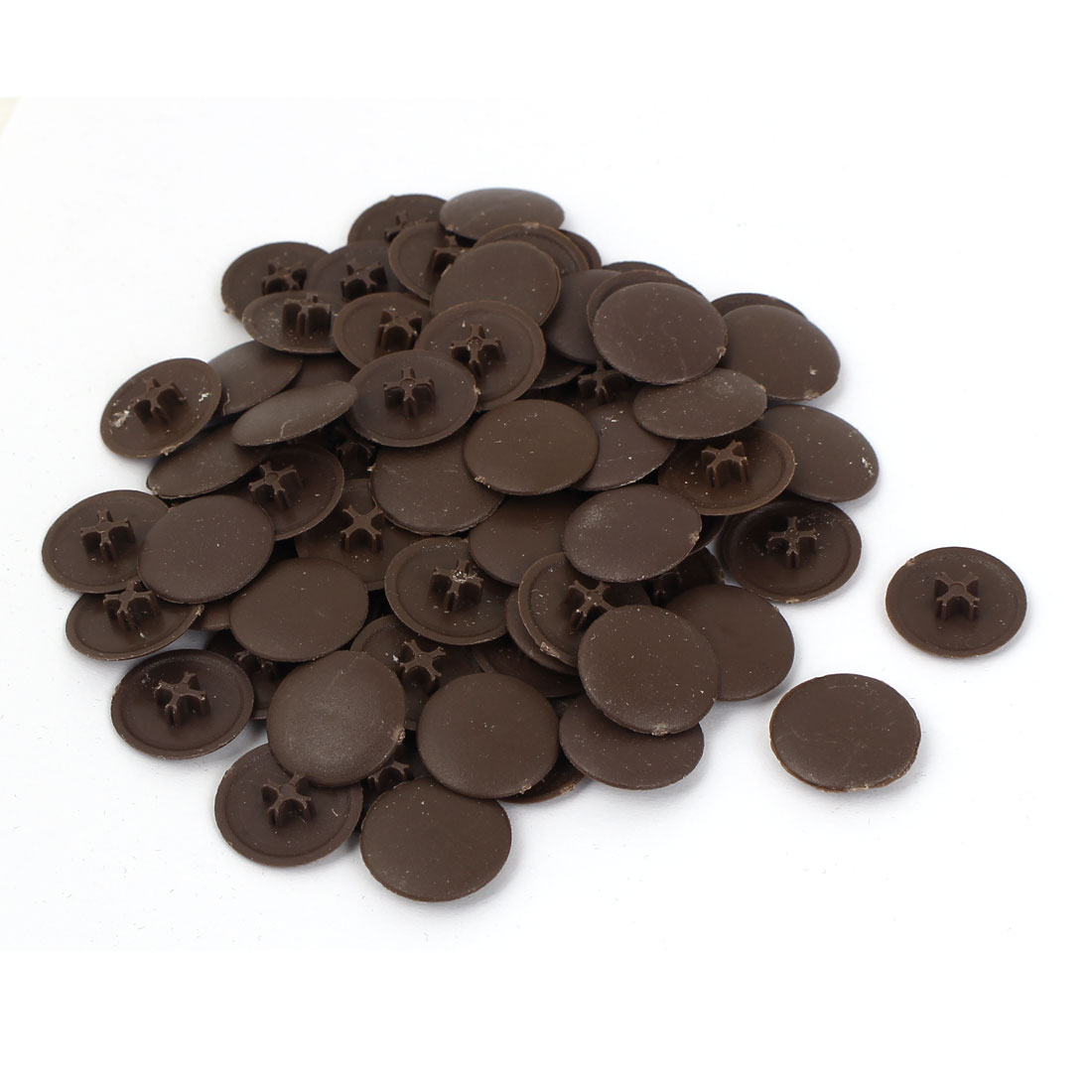 Uxcell 6mm Screws Round Brown Plastic Decoration Cap Covers (80-pack)
