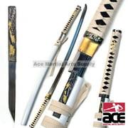 Bushido Musashi - Zetsurin Sword w/ Knife Full Tang - White Saya