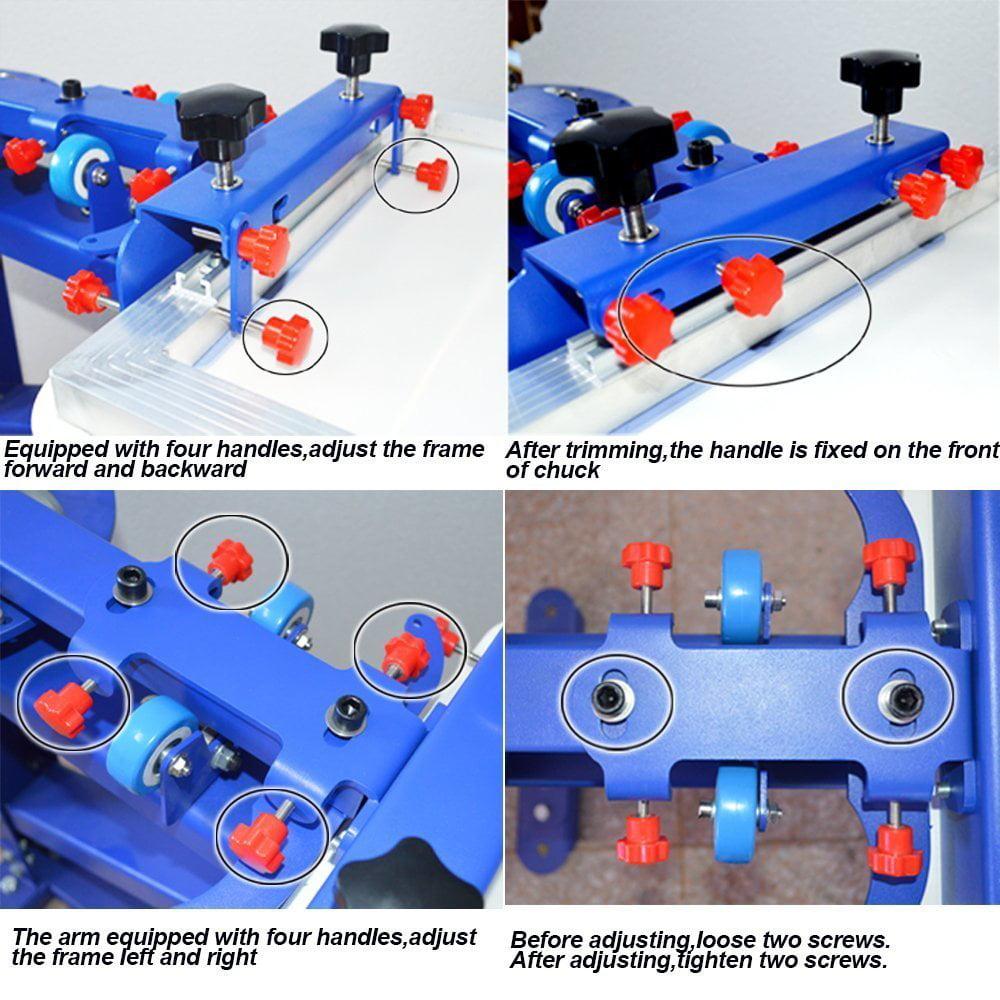 Techtongda 4 Color 1 Station Silk Screen Printing Press Fine Tuning T-shirt  Micro-registration Screen Printer #006522