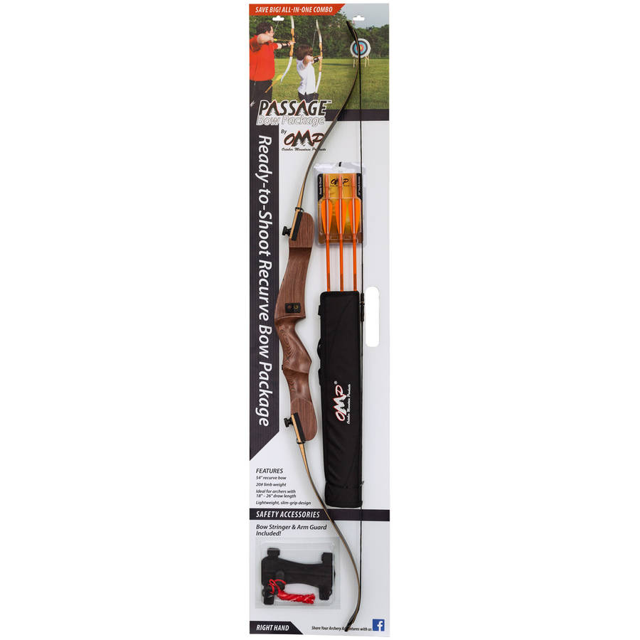 "October Mountain Passage Recurve Bow Package, 54"", 20 Lb"