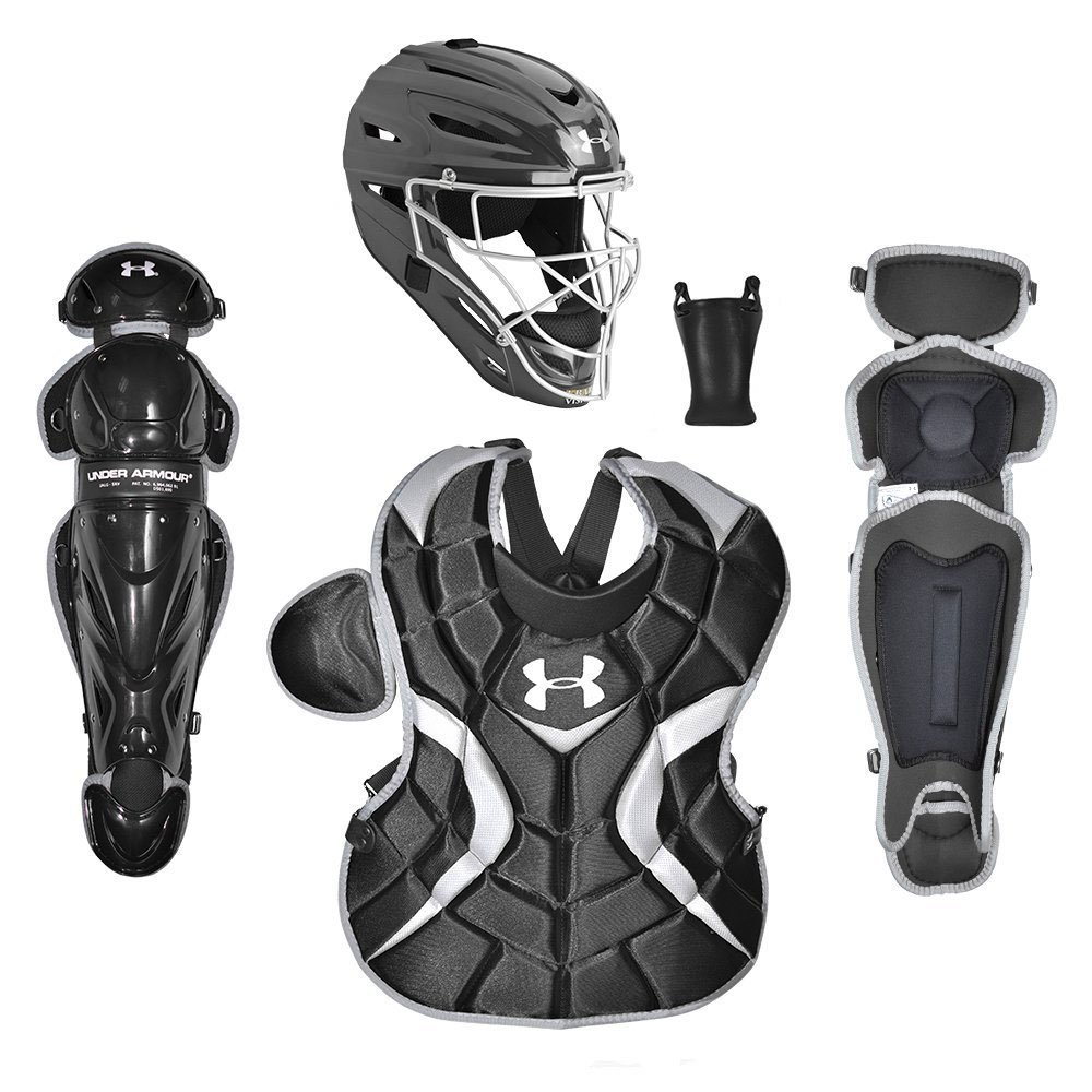 Under Armour Youth Baseball PTH Victory Catching Equipment, Age 12 to 16 (Black)