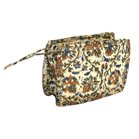 Cotton Clutch (block printed cotton quilted kalamkari clutch bag 9 x 7)