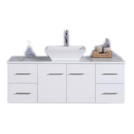 Totti Wave 48 Inch White Bathroom Vanity Walmartcom