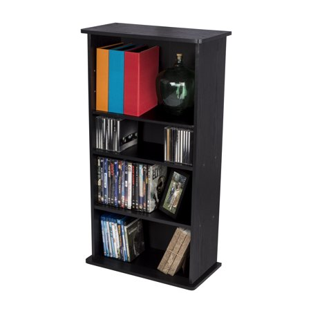 (Atlantic Drawbridge XL CD/ DVD Media Storage Cabinet and Bookshelf, 10