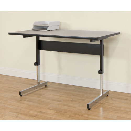 "Calico Designs Adapta Desk 48"", Black/Spatter Gray"
