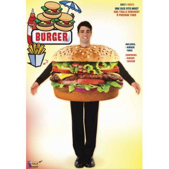 CO - HAMBURGER - STD - Hamburger Costume Adult