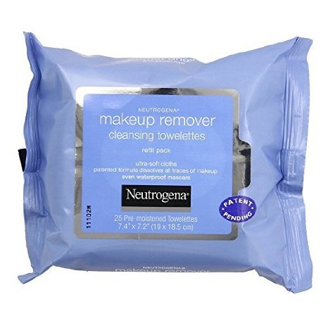 6 PACKS : Neutrogena Makeup Remover Cleansing Towelettes, Refill Pack, 25 Count