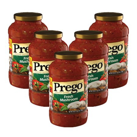 (5 Pack) Prego Fresh Mushroom Italian Sauce, 24