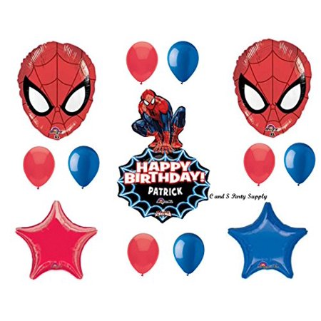 Spiderman Birthday Decorations (SPIDER-MAN PERSONALIZED Birthday Party Mylar BalloonS Decorations Supplies Movie by)