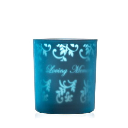 Copa Judaica Candle Holder Blue - In Loving Memory