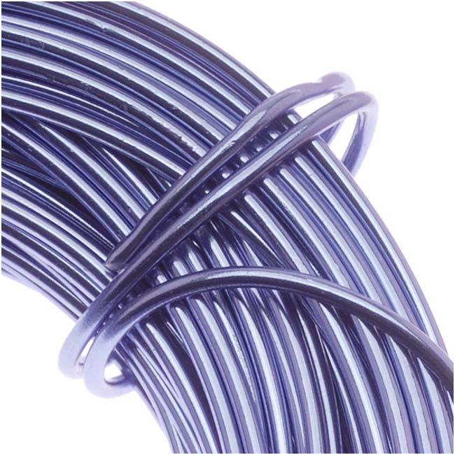 Aluminum Craft Wire Lilac Purple 12 Gauge 39 Feet (11.8 Meters)