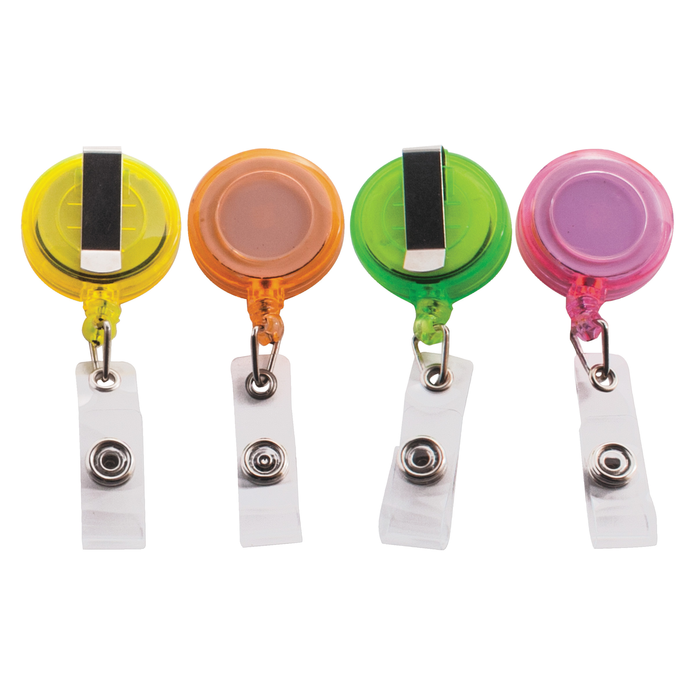 "Advantus Deluxe Retractable ID Card Reel, 30"" Extension, Assorted Colors, 20/Pack -AVT91161"