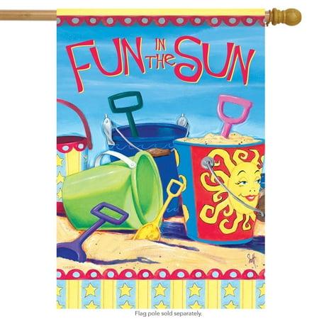 Bucket List Summer House Flag Nautical Fun in the Sun Beach  Banner 28