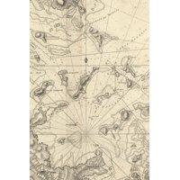 Carte particulière du havre de Boston avec les sondes les bancs de Sable : A Poetose Notebook / Journal / Diary