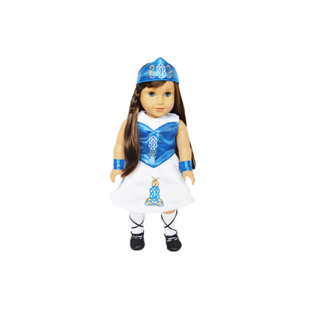 My Brittany's Blue Irish Dance Outfit For American Girl Dolls and My Life as Dolls