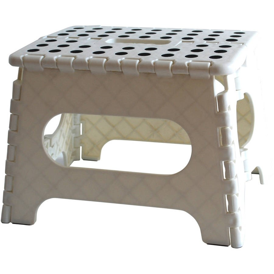 Arange Organization by Design Range Kleen White Single Step Stool