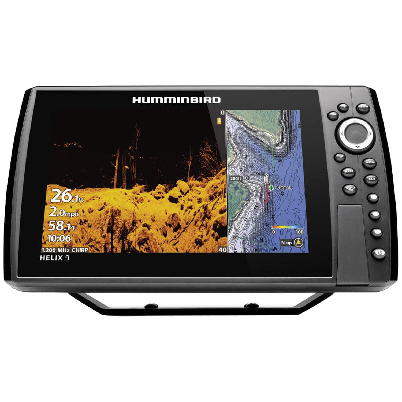"Humminbird 410850-1 HELIX 9 CHIRP Sonar G3N Dual Spectrum Combo Fishfinder/GPS/Chartplotter with MEGA Down Imaging + & 9"" Display"