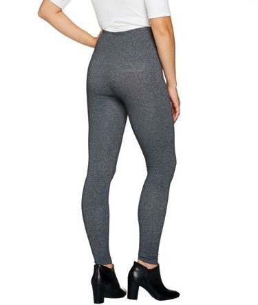 Spanx Look Me Now Tummy Control Wide Waist Leggings Very Black 2X NEW A288131