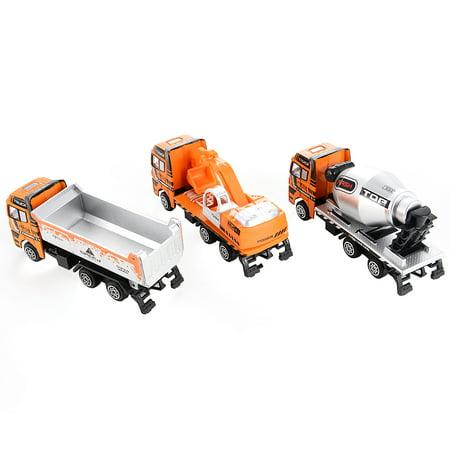 3PCS Diecast Metal Car Models Play Set Builders Construction Trucks Vehicle Playset - image 5 of 6