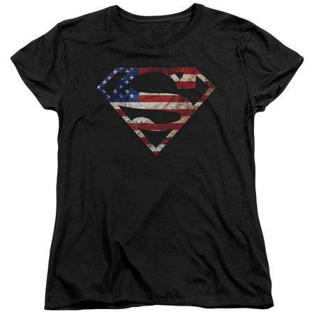 Superman Super Patriot Womens Short Sleeve Shirt for $<!---->