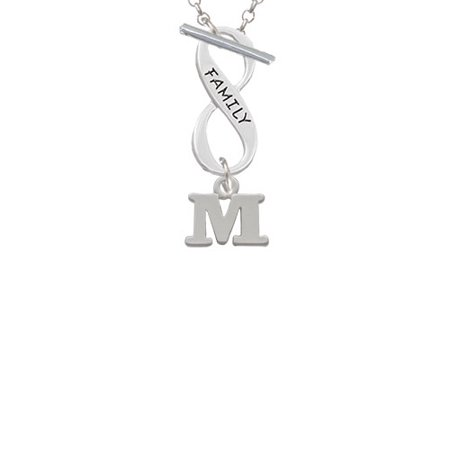 Small Greek Letter Mu Family Infinity Toggle Chain Necklace