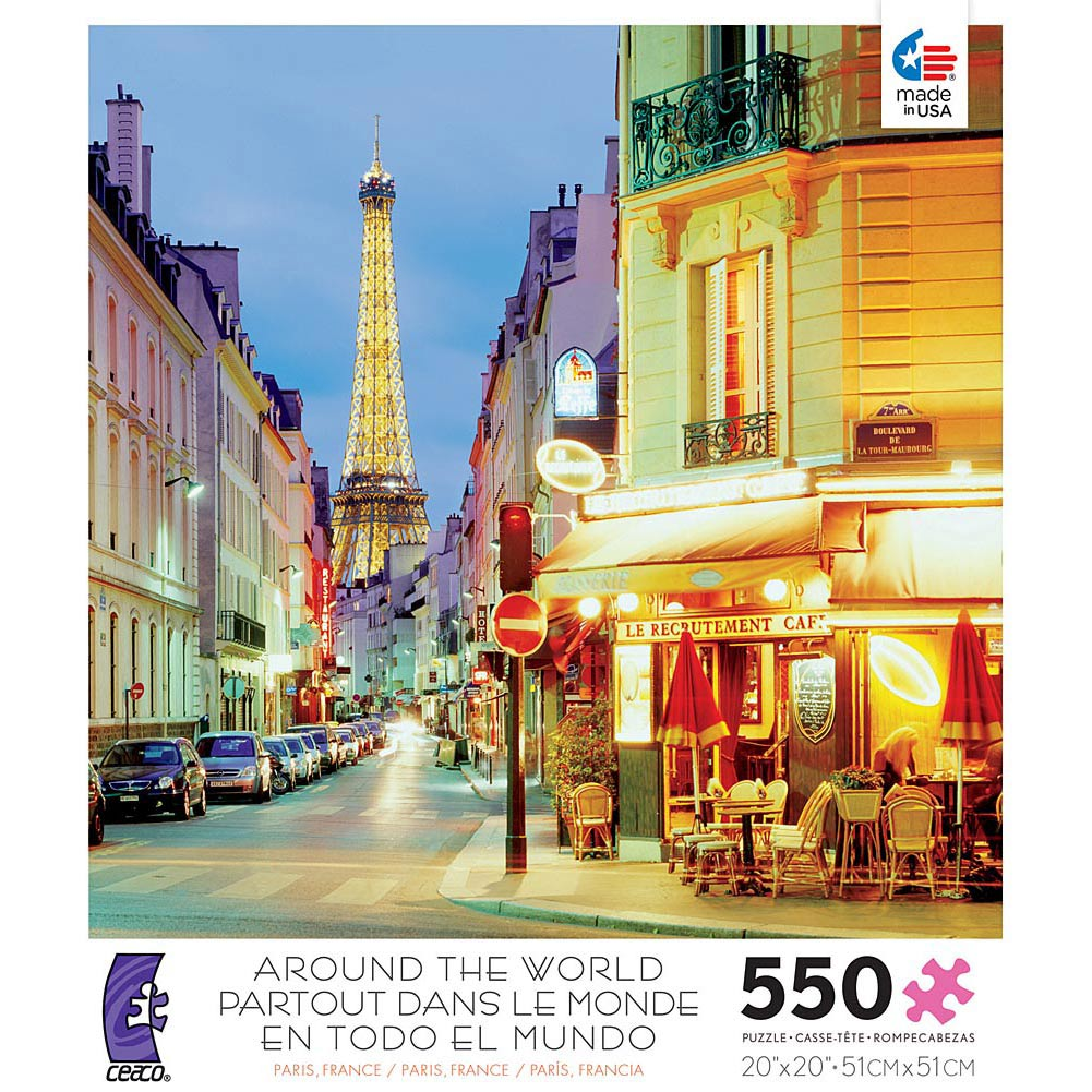 Paris France 550 Piece Puzzle