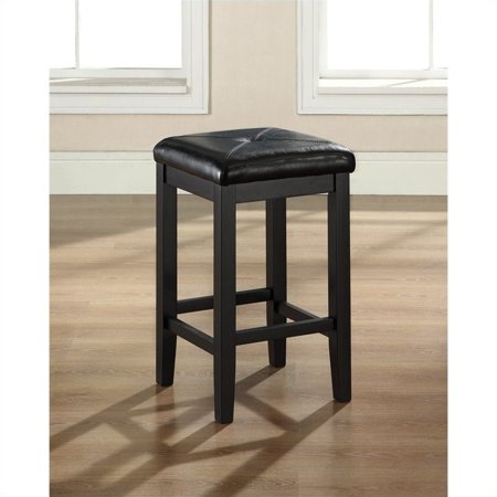 - Crosley Furniture Upholstered Square Seat Bar Stool with 24