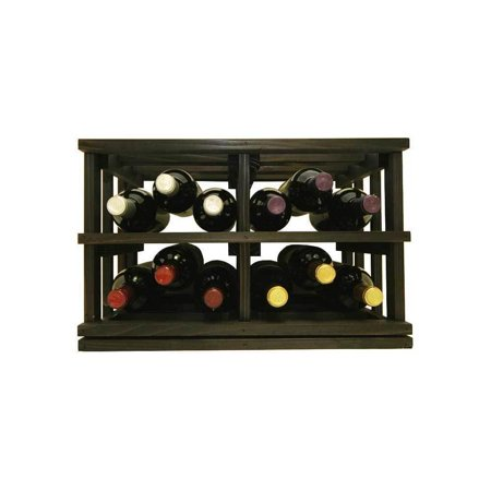 Wine Cellar Innovations  Mini-Stack Series Midnight Black Stain Stackable Bottle (Stackable Wine Cellars)