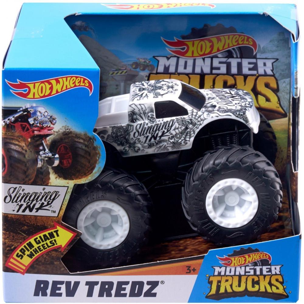 Hot Wheels Monster Trucks Rev Tredz Slinging Ink Vehicle by Mattel