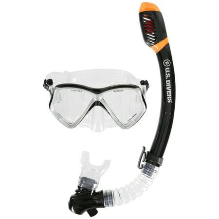 7b4e6c7c32 U.S. Divers® Adult Standard Snorkel   Mask 2 pc. Carded Pack - Walmart.com