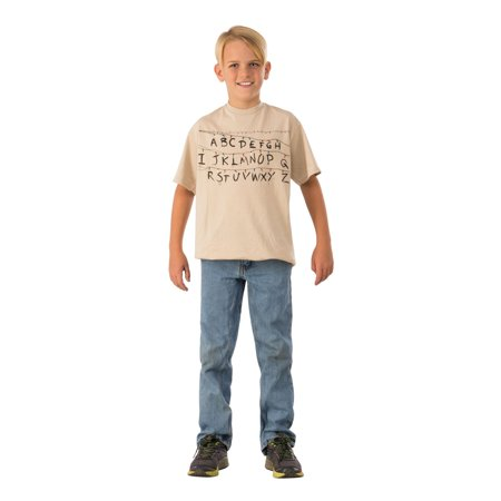Halloween Stranger Things Kids Alphabet Shirt (Halloween Alphabet)