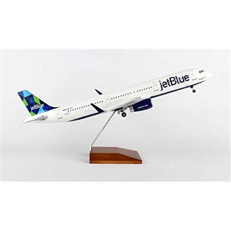 Skymarks Supreme Skr8321 Skymarks Jetblue A321  44  1 Is To 100 Mint With Wood Stand   Gear Air Plane Toy