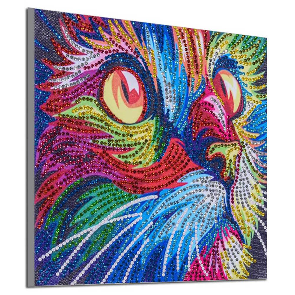 5D DIY Full Drill Diamond Painting Animal Canvas Cross Stitch Home Wall Hanging