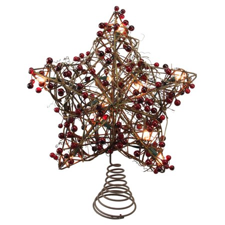 Walmart Seller Central >> Northlight 13.5 in. Brown Rattan Star Lighted Christmas ...