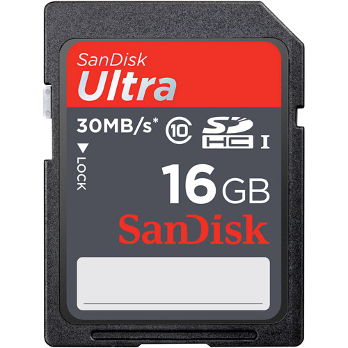 SanDisk Ultra 16GB SDHC Class 10/UHS-1 Flash Memory Card Speed Up To 30MB/s- SDSDU-016G-U46 (Label May Change)