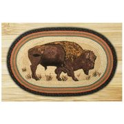"Buffalo Printed Area Rug, Oval 1'8"" x 2'6"""