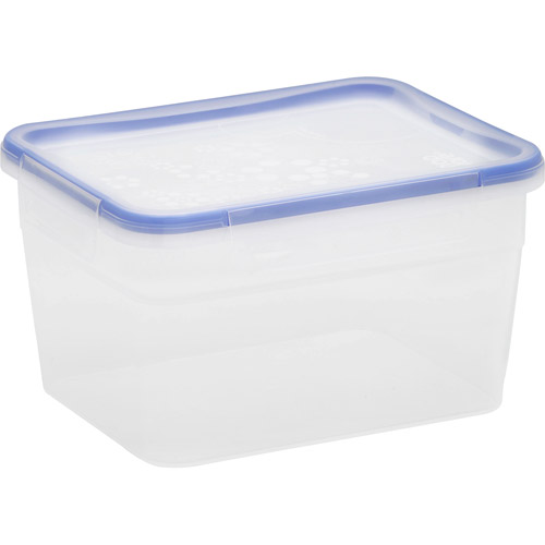 Snapware Total Solution 4-Piece Plastic 15.8-Cup Tall Rectangle Containers, Clear