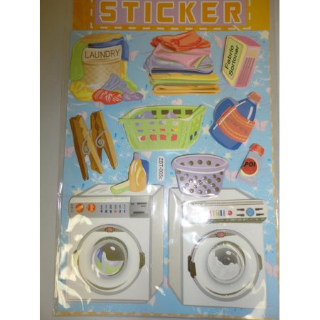CHAMRED 3D POP-UP STICKERS. LAUNDRY ROOM