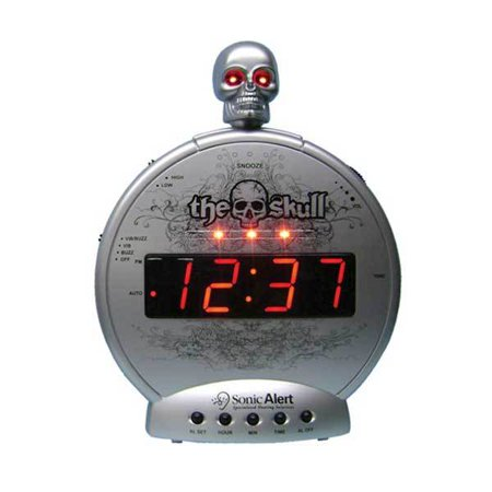 The Skull Alarm Clock W  Bone Crusher Bed Shaker