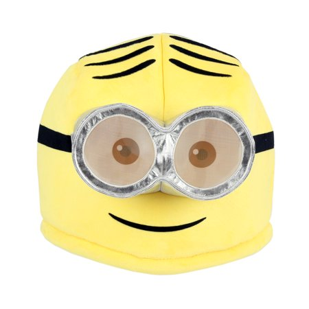 Maskimals Oversized Plush Halloween Mask - Dave - Minion Mask