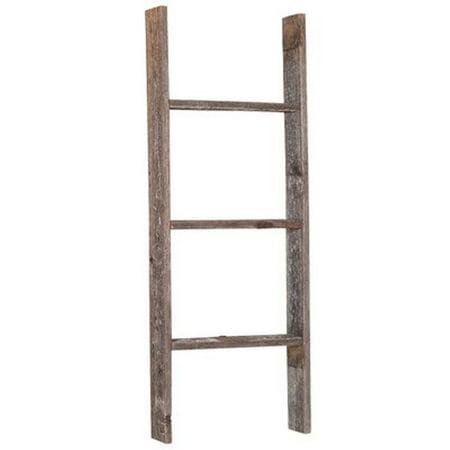 Barnwoodusa rustic 3 foot old wooden bookcase ladder 100 - Reclaimed wood ladder shelf ...