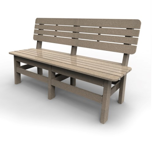 Country Bench by Malibu Outdoor, Sand - 60''