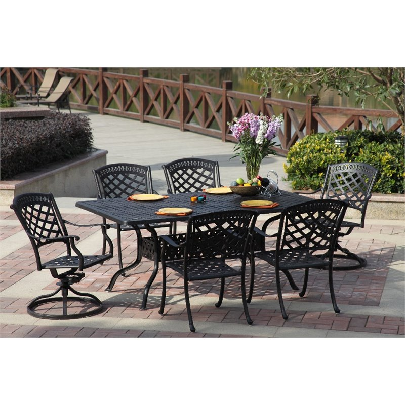 Darlee Sedona 7 Piece Patio Set with Seat Cushion